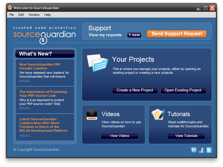 Protect PHP source code with SourceGuardian